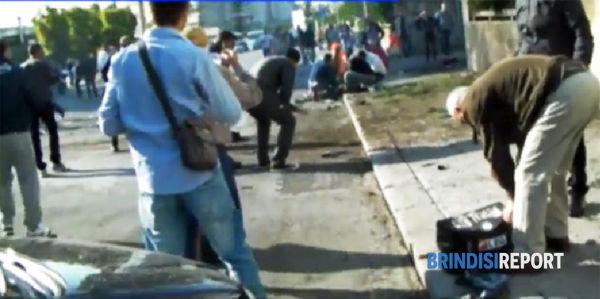 La scena dell'attentato alla Morvillo