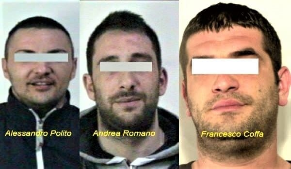 Omicidio Tedesco - Andrea Romano, Alessandro Polito, Francesco Coffa-2