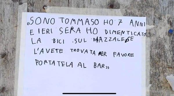 Messaggio bici Tommaso-2