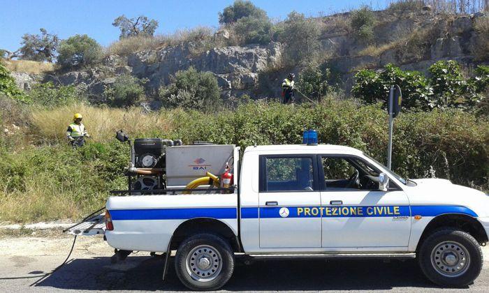 La Protezione civile nel parco di Agnano-2