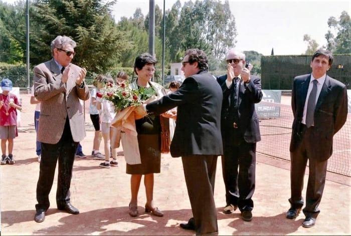 XVI Memorial Alberto Guarini- 1° Maggio 2001-Il papà di Alberto Bruno e la mamma Lucia-2
