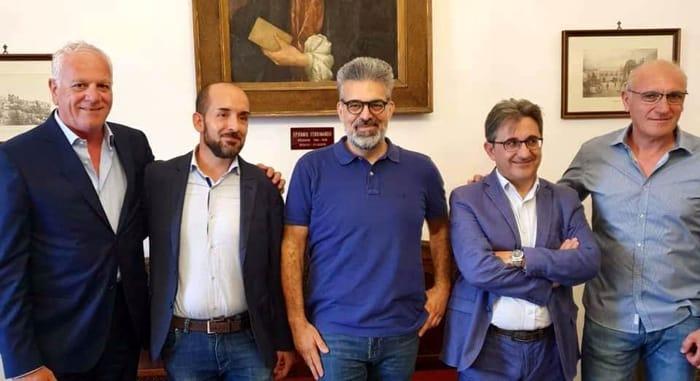 I consulenti di Matarrelli - da sinistra, Piro, calò, Calabrese e Stella-2