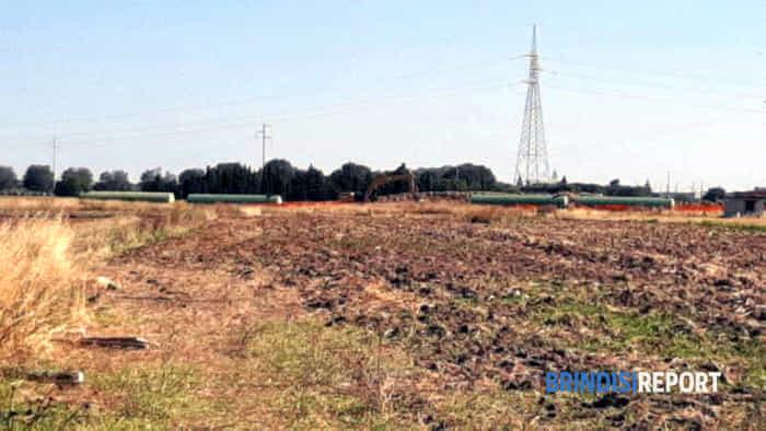 il cantiere Snam del gasdotto Tap in contrada San Paolo - Brindisi Tuturano-2