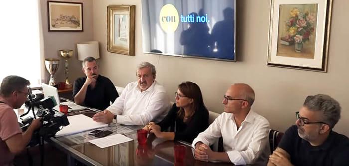 Emiliano e Matarrelli alla presentazione del movimento Con-2
