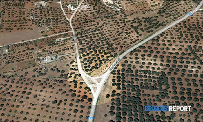 L'incrocio dove sarà realizzata la rotatoria sulla provinciale San Vito-Specchiolla-2