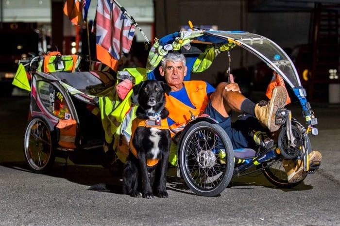 Martin Hutchinson e il suo cane in Croazia-2