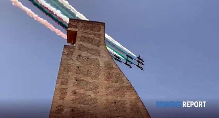 Le Frecce Tricolori alla partenza della XXXIV Brindisi-Corfù-2