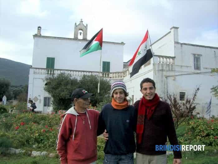 da sinistra, Tonio Leone, Refaat Sharawi e il fratello Fawaz-2