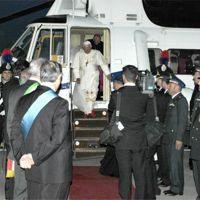 l'arrivo del Papa a Brindisi