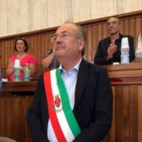 Riccardo Rossi con la fascia tricolore