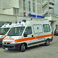 Ambulanze all'esterno del Pronto soccorso